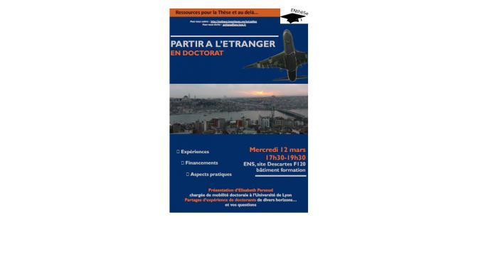 Partir à l'étranger en doctorat – Compte-rendu de la réunion du 12.03.14
